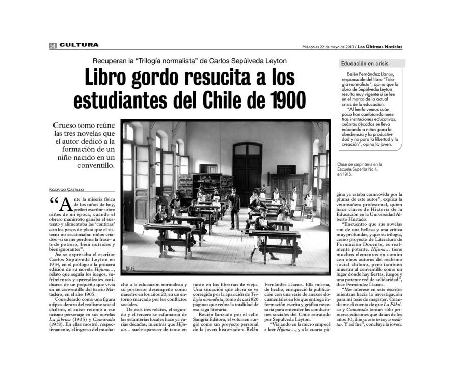 Trilogía-normalista-en-Las-Últimas-Noticias-de-Santiago---22-de-mayo-de-2013