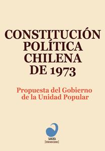 Portada Constitución Política Chilena de 1973